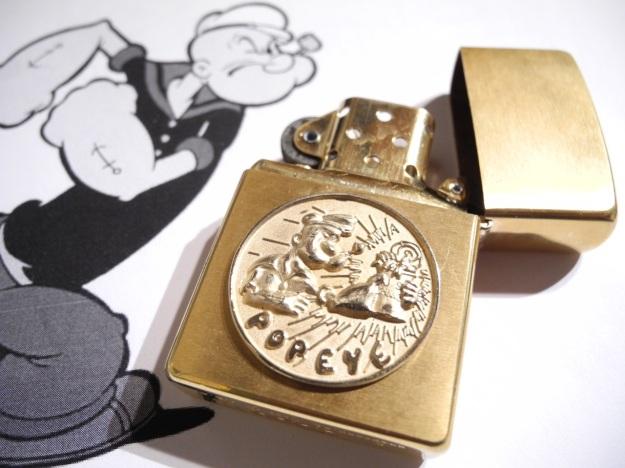Popeye Zippo by Feinschmuck brass shiny