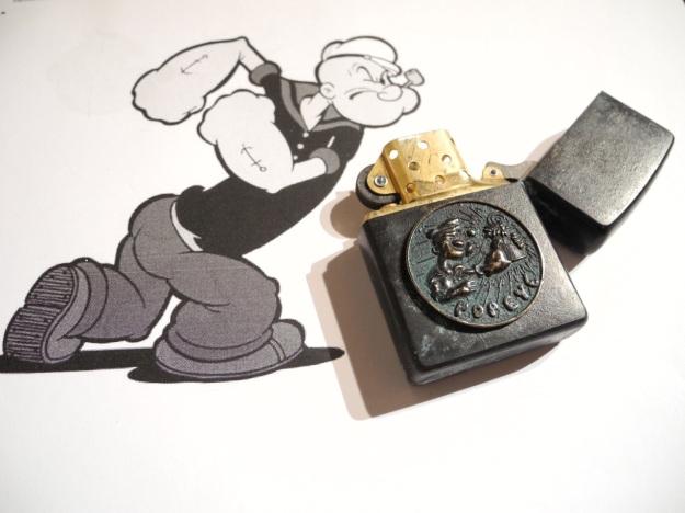 Popeye Zippo by Feinschmuck - brass aged