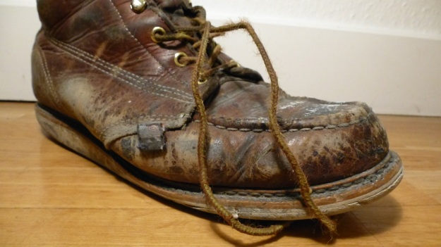 Thorogood Work American Hertitage Moc toe boot toes