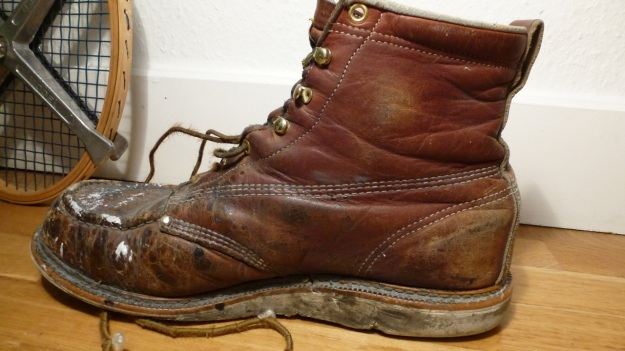 Thorogood Work American Hertitage Moc toe boot after worn for 1 year at work