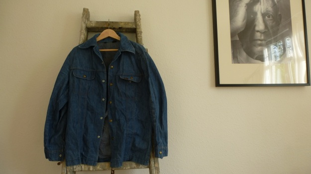 vintage lee denim shirt - full view front