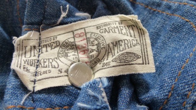 vintage lee denim shirt - label 813615 United Workers Garment America