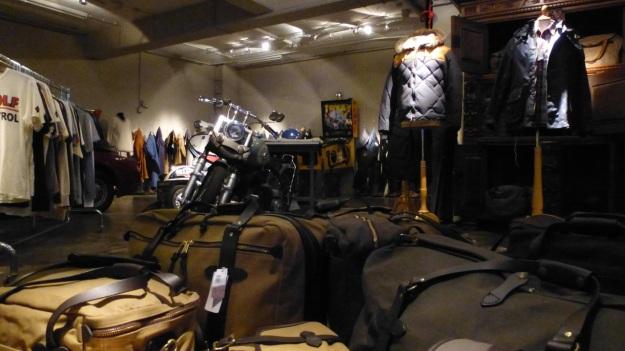 B-74 Frankfurt filson bags and motorbike