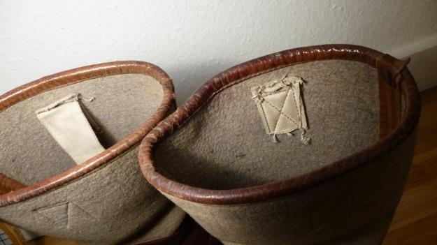 brown felt boots - santa claus, felt shaft and broken loops