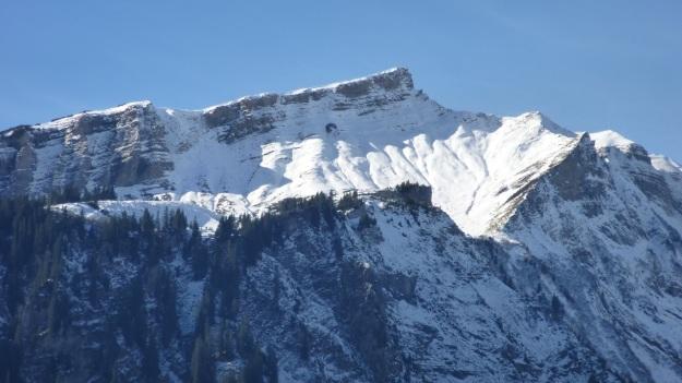 Rehmen Liegstein Austria Vorarlberg Trekking snow mountain panorama