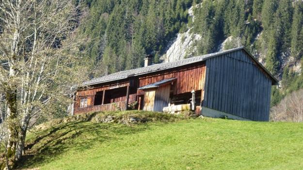 Rehmen Liegstein Austria Vorarlberg Trekking mountain wooden hut