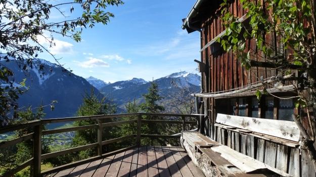 Rehmen Liegstein Austria Vorarlberg Trekking panorama balcony