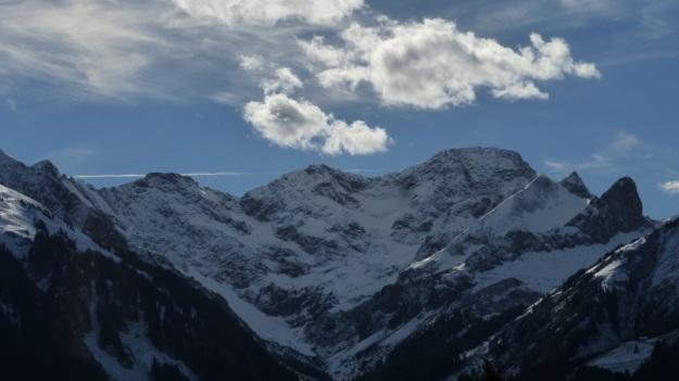 Rehmen Liegstein Austria Vorarlberg Trekking snow panorama bregenzerwald