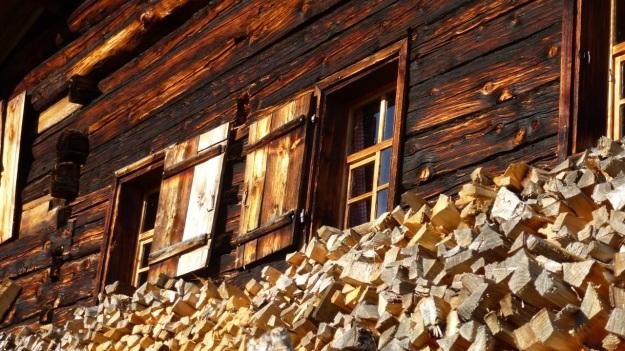 Rehmen Liegstein Austria Vorarlberg Trekking wooden mountain hut