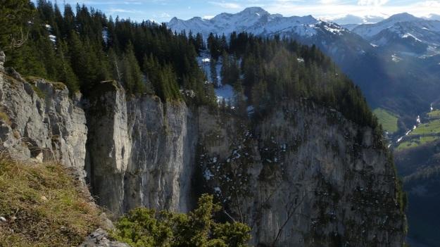 Rehmen Liegstein Austria Vorarlberg Trekking cliff drop