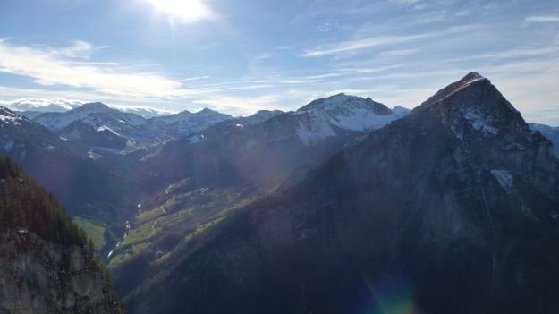 Rehmen Liegstein Austria Vorarlberg Trekking mountain panorama mellau
