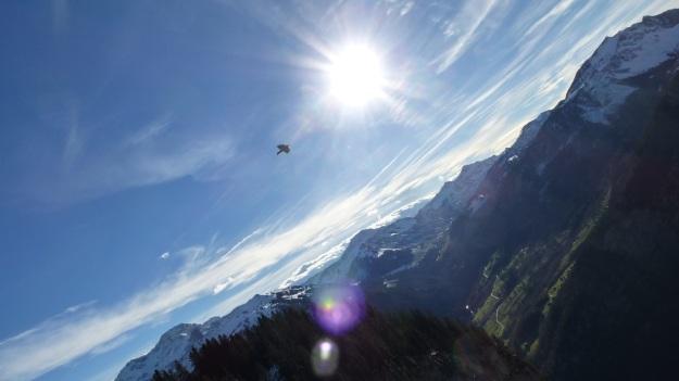 Rehmen Liegstein Austria Vorarlberg Trekking dole flying