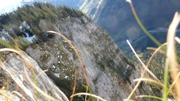 Rehmen Liegstein Austria Vorarlberg Trekking cliff drop basejump