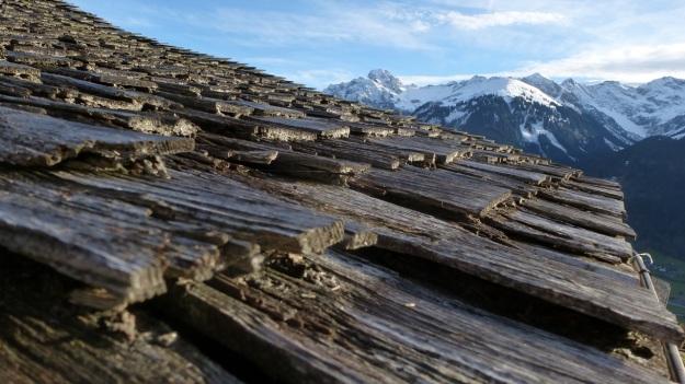 Rehmen Liegstein Austria Vorarlberg Trekking wooden roof schindeln