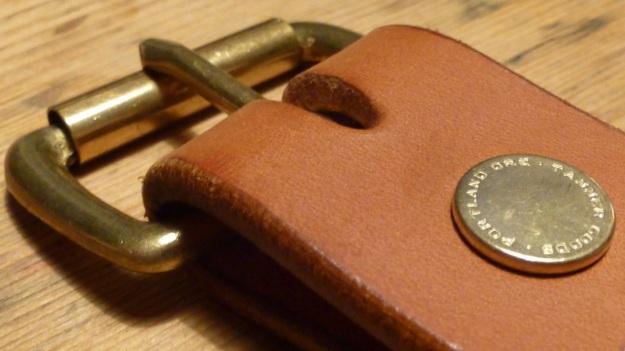 Tanner Goods Belt cognac brown