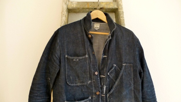 Tellason Chore Coat - Coverall Jacket denim pockets and colar