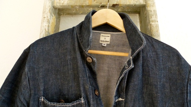 Tellason Chore Coat - Coverall Jacket denim neck and colar area
