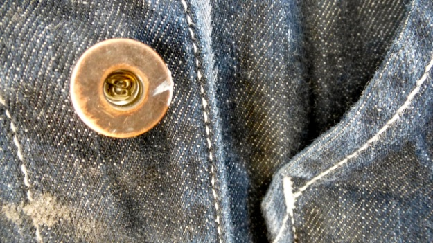 Tellason Chore Coat - Coverall Jacket denim copper buttons