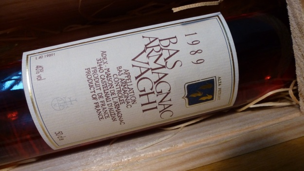 Armagnac Vaghi 1989 bottle label