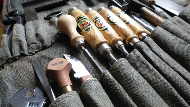 Woodworking canvas tool roll kirschen tools