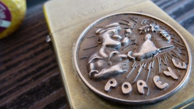 Old Popeye Zippo by feinschmuck - solid brass