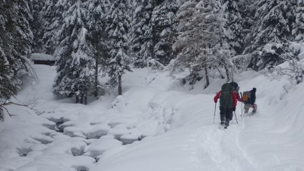 St. Anton - Heilbronner Hütte snoeshoe trip