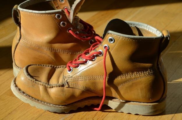 Gorilla moc toe boots worn in