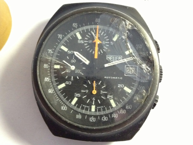 Heuer 510.501 Chronograph broken glass