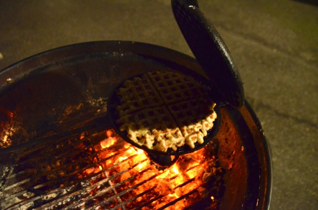 rib eye and waffles barbecue