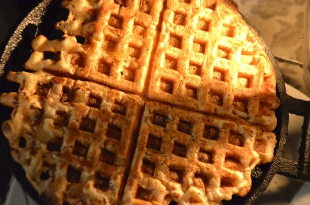 rib eye and waffles barbecue