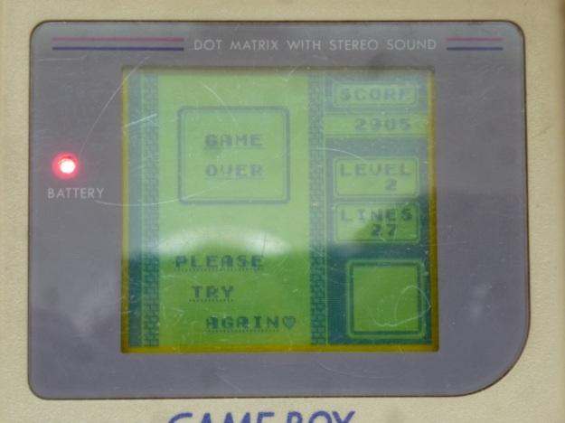 Nintendo Gameboy - Tetris game over