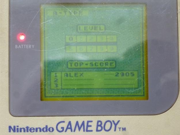 Nintendo Gameboy - Tetris highscore screen
