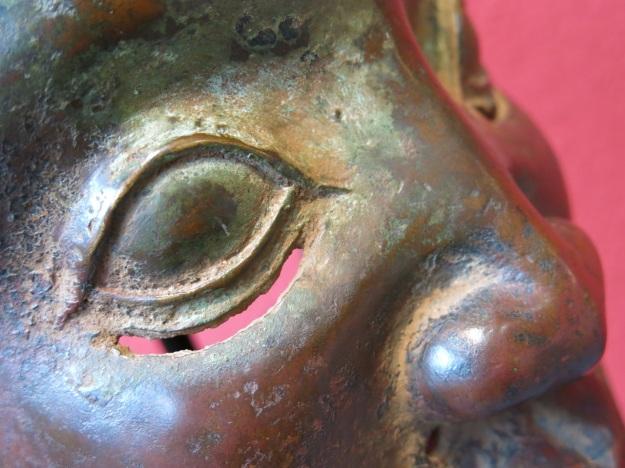 benin bronze mask for auction zeller