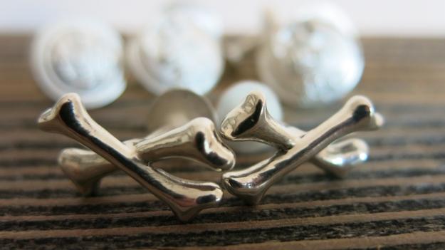 feinschmuck bones cufflinks