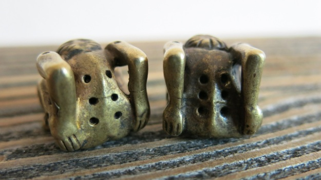 ancient roman or viking bronze dices