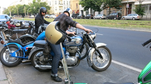 Iron Heart x DC4 Party Berlin Summer 2013 Motorbikes bsa