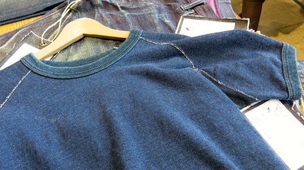 pure blue japan & syoaiya denim macro images shirt