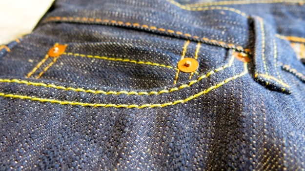 pure blue japan & syoaiya denim macro images worn