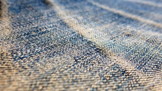 pure blue japan & syoaiya denim macro images worn
