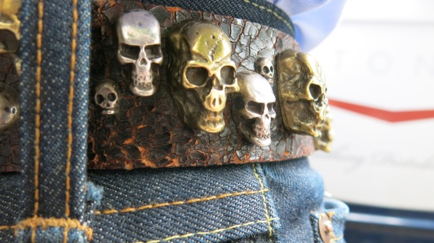 Skull belt and Tanner Goods Workmen Wallet2