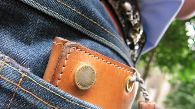 Skull belt and Tanner Goods Workmen Wallet6