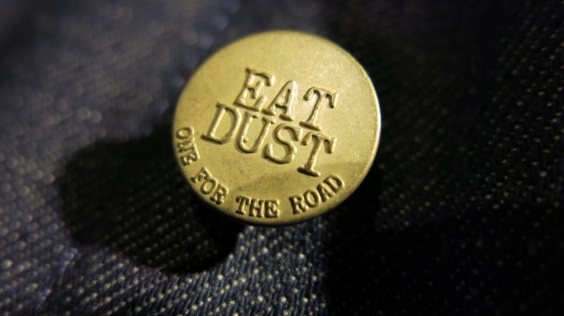 VMC Denim Department Buttons Eat Dust one for the road