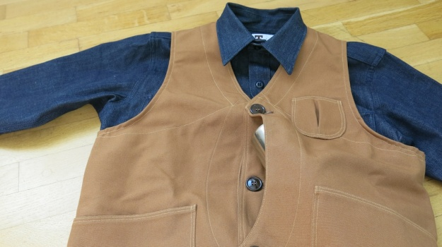 Rising Sung Outdoor Vest Brown Duck Canvas  467