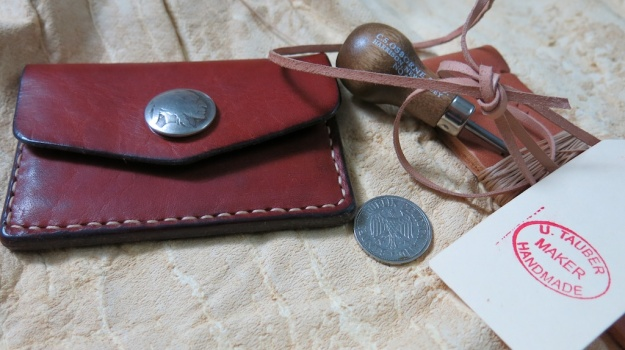 u. tauter indian head nickel hand sewn wallet 405