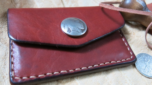 u. tauter indian head nickel hand sewn wallet 406