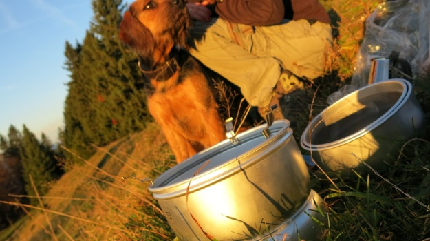 Autumn hiking with bivouac  - Trangia Alcohol Stove 848
