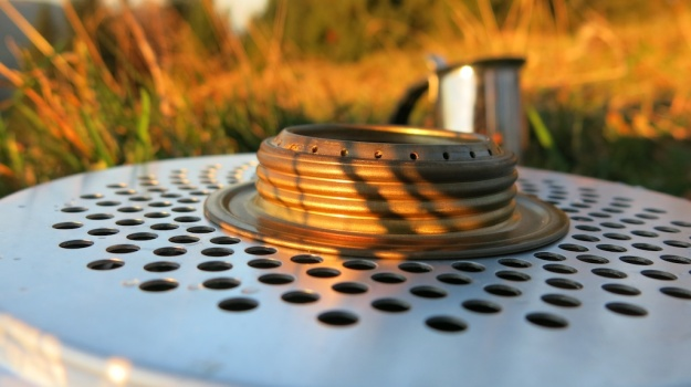 Autumn hiking with bivouac  - Trangia Alcohol Stove 849