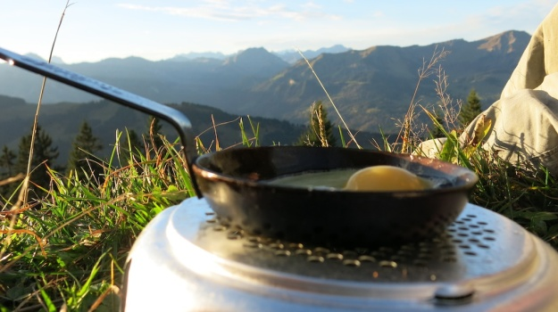 Autumn hiking with bivouac  - Trangia Alcohol Stove 860