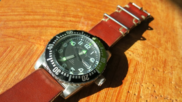 DIY hand sewn Nato leather watch strap 731