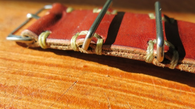 DIY hand sewn Nato leather watch strap 733